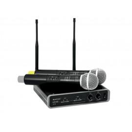 Omnitronic UHF-102, bezdrátový mikrofonní set 2 kanálový, 825.3/864.1 MHz