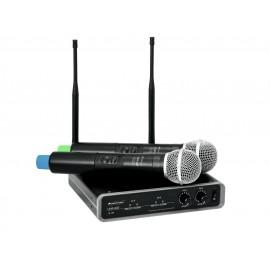 Omnitronic UHF-102, bezdrátový mikrofonní set 2 kanálový, 830.3/863.8 MHz
