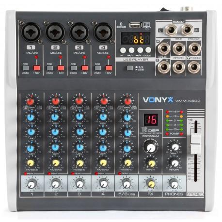 Vonyx VMM-K402 4-kanálový mix pult s DSP