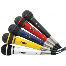 Sada dynamických mikrofonů XLR, 5 barev