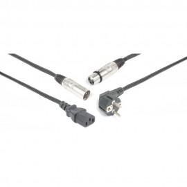Power/Signal Cable Audio XLR 10m, napájecí a signálový kabel v jednom