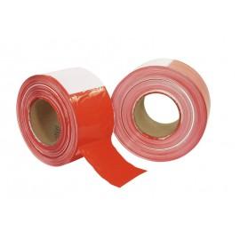 Páska PVC červeno-bílá 80mm x 500m