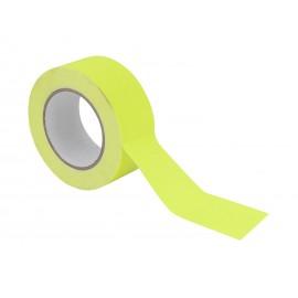 Gaffa páska 50mm x 25m neonově žlutá, UV aktivní