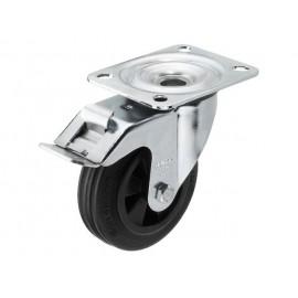 Plastové kolečko pro reproduktor s parkovací brzdou Monacor GCB-100B, Ø kola 100 mm, nosnost (max.): 70 kg, 1 ks