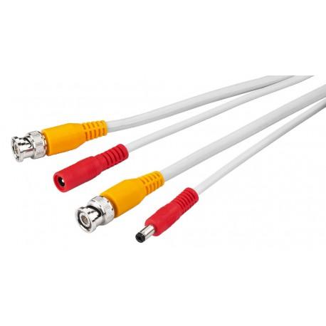 Monacor VSC-180/SW Kabel pro kamerové systémy bílý