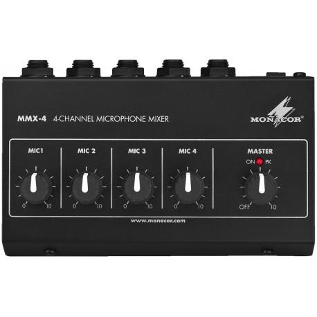Mikrofonni predzesilovac Monacor MMX-4