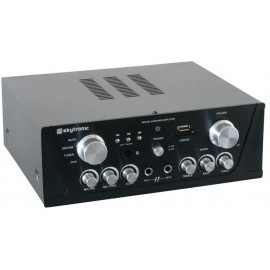 Karaoke zesilovač FM / USB / SD, černý