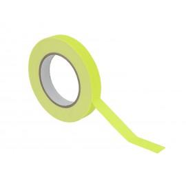 Gaffa páska 19mm x 25m neonově žlutá, UV aktivní