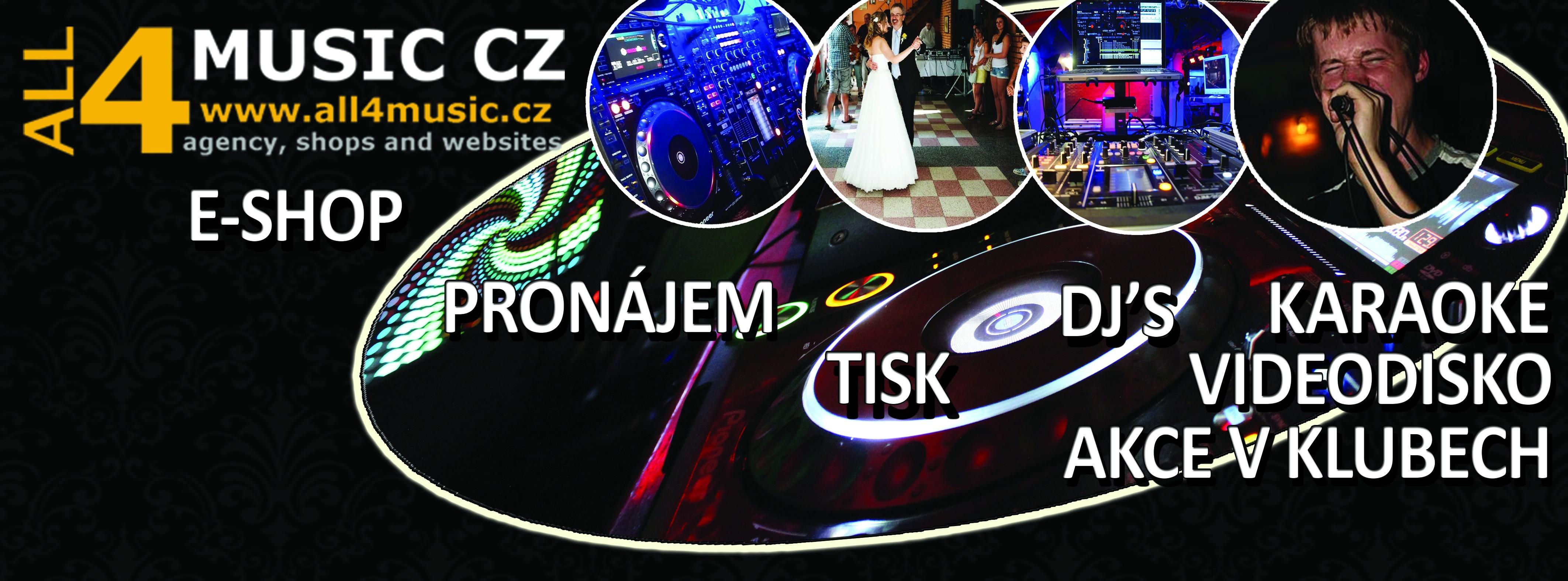 Hudební agentura, djs na akce a ozvučení Praha ALL4MUSIC